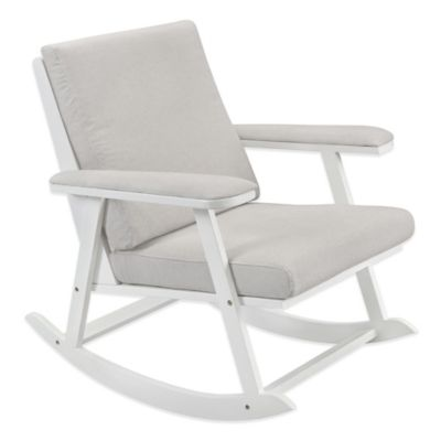 Babyletto Cricket Rocker in White/Grey