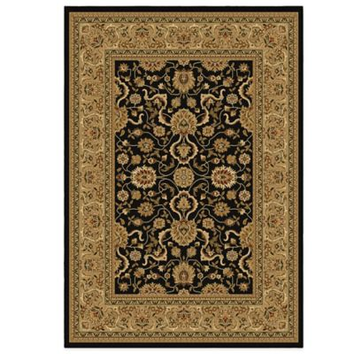 Orian American Heirloom Collection Serapi 2-Foot 3-Inch x 8-Foot Runner in Black