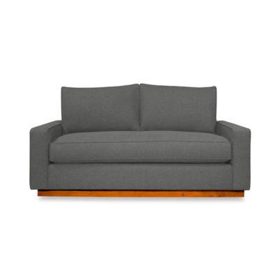 Kyle Schuneman for Apt2B Harper Mini Apartment Sofa with Pecan Base in Chromium