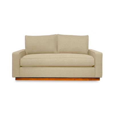 Kyle Schuneman for Apt2B Harper Mini Apartment Sofa with Pecan Base in Bisque
