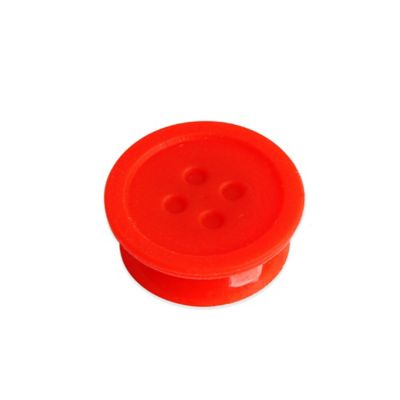Kikkerland® Silicone Tea Buttons in Red (Set of 6)