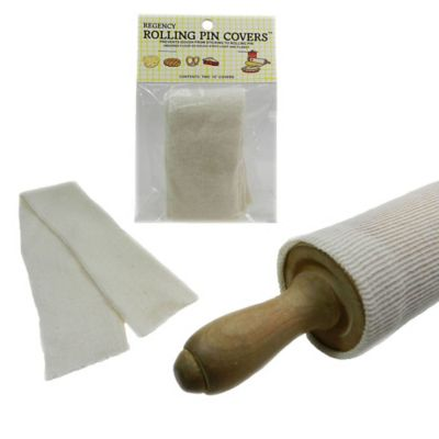 15-Inch Rolling Pin Covers in Natural (Set of 2)