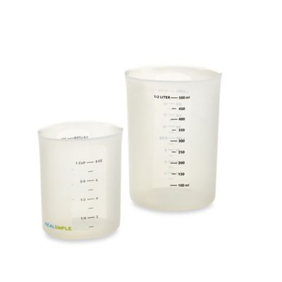 Real Simple Silicon Measuring Cups (Set of 2) in Clear