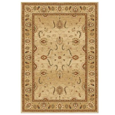 Orian American Heirloom Collection Mahal Bisque7-Foot 10-Inch x 10-Foot 10-Inch Rug