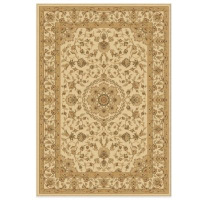 Orian American Heirloom Collection Prescott Bisque 2-Foot 3-Inch x 8-Foot Runner
