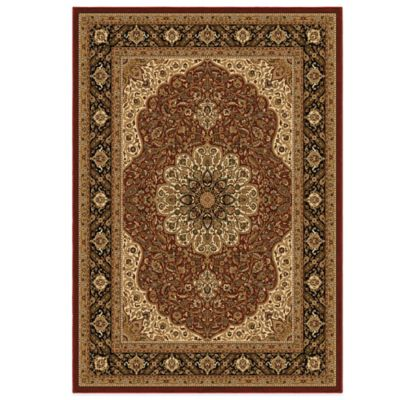 Orian American Heirloom Collection Osteen Claret 7-Foot 10-Inch x 10-Foot 10-Inch Rug