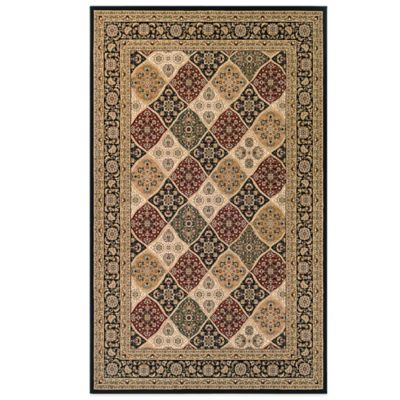 Couristan® Antalya Collection Ankara 2-Foot x 3-Foot 11-Inch Rug in Black