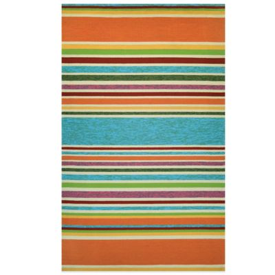 Couristan® Covington Collection Sherbet Stripe 7-Foot 10-Foot Round Rug