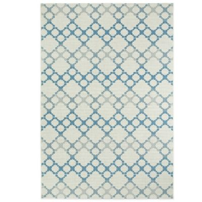 Kevin O'Brien by Capel Rugs Finesse-Santorini 3-Foot 11-Inch x 5-Foot 6-Inch Rug in Capri Blue