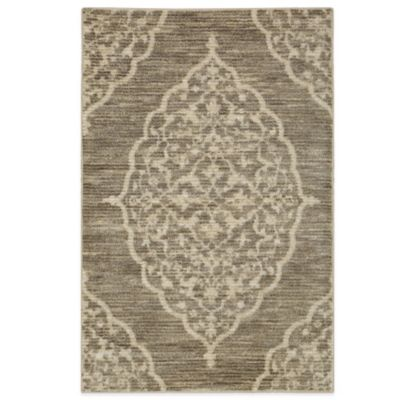 Mohawk Home Silk Elegance 3-Foot x 5-Foot Rug in Pewter