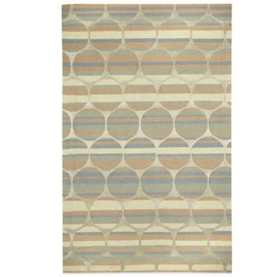 Kevin O' Brien by Capel Rugs Tuscan Sun 3-Foot x 5-Foot Rug in Blue