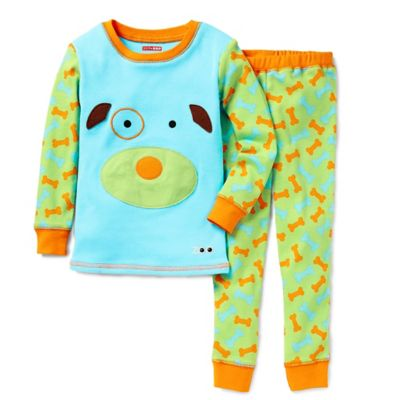 SKIP*HOP® ZOOJAMAS™ Size 2T Dog Long-Sleeve Pajamas in Blue/Green