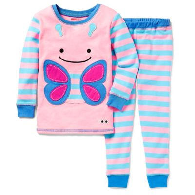 SKIP*HOP® ZOOJAMAS™ Size 2T Butterfly Long-Sleeve Pajama in Pink