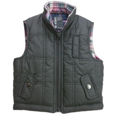 No Retreat Size 3-6M Reversible Puffer Vest in Black