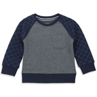 No Retreat Size 3-6M Quilted Long-Sleeve Pullover in Navy