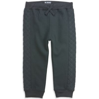 No Retreat™ Size 6-9M Diamond Quilted Side Jogger Pant in Black