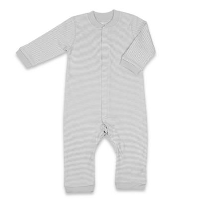 Tadpoles Size 6-9M Organic Cotton Footless Snap-Front Romper in Grey