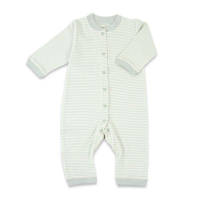 Tadpoles Size 6-9M Organic Cotton Footless Snap-Front Romper in Sage