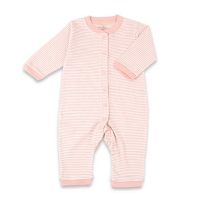 Tadpoles Size 0-3M Organic Cotton Footless Snap-Front Romper in Coral