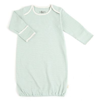 Tadpoles Size 0-6M Striped Gown in Sage/White