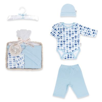 Tadpoles Mod Zoo Size 0-6M 5-Piece Gift Set in Blue Hippo