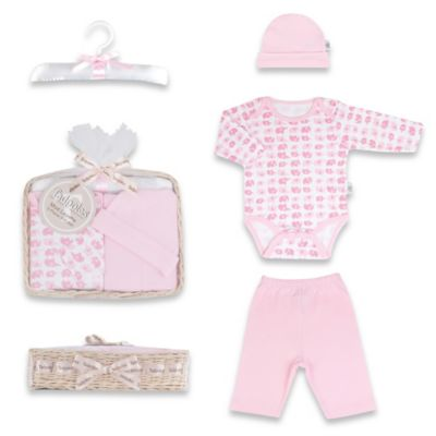 Tadpoles Mod Zoo Size 0-6M 5-Piece Gift Set in Pink Elephant