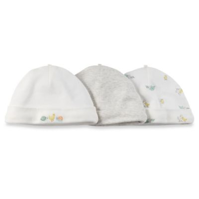 Carter's® 3-Pack Animals Roll Cuff Hat in Ivory/Heather