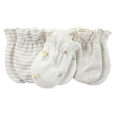Carter's® 3-Pack Ducks Mitten in Ivory/Heather