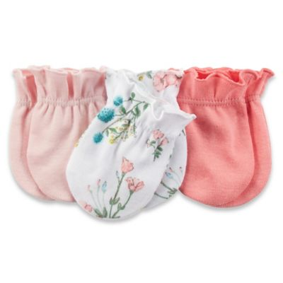 Carter's® 3-Pack Mitten in Pink/Floral/Coral