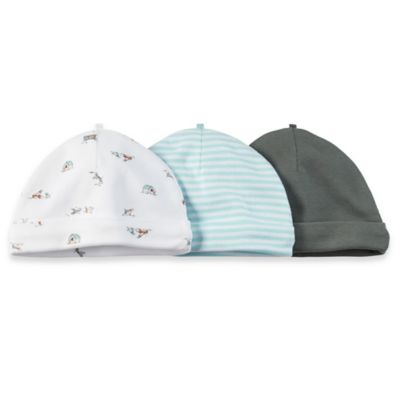 Carter's® 3-Pack Hat in Dog Print/Light Blue Stripe/Grey