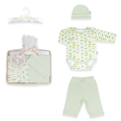 Tadpoles Mod Zoo Size 0-6M 5-Piece Gift Set in Green Gator