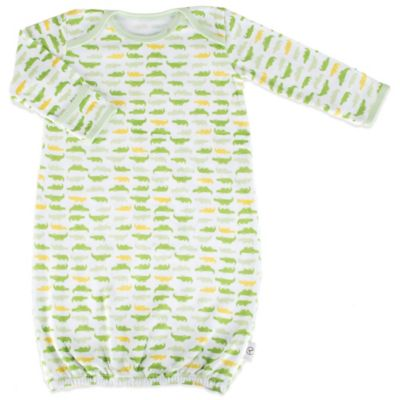 Tadpoles Mod Zoo Size 0-6M Sleep Gown in Green Gator