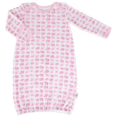 Tadpoles Mod Zoo Size 0-6M Sleep Gown in Pink Elephant