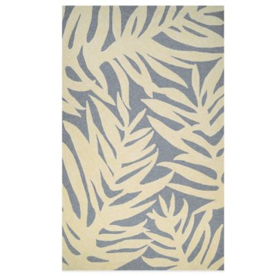 Couristan Covington Collection Palms 8-Foot x 11-Foot Rug in Azure