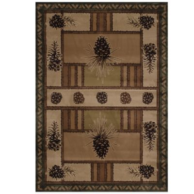 2 7 Brown Accent Rug