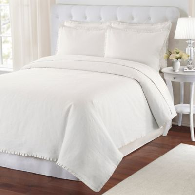 LaMont Home Ayla Twin Coverlet in White