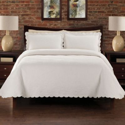 LaMont Home Alexis King Coverlet in Ivory