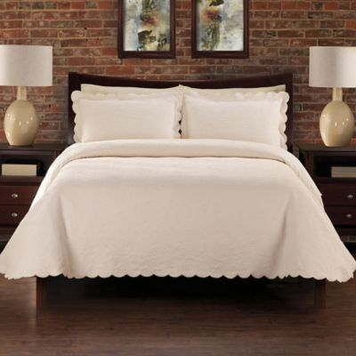 LaMont Home Alexis Queen Coverlet in Ivory
