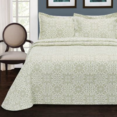 LaMont Home Larissa Twin Bedspread in Sage
