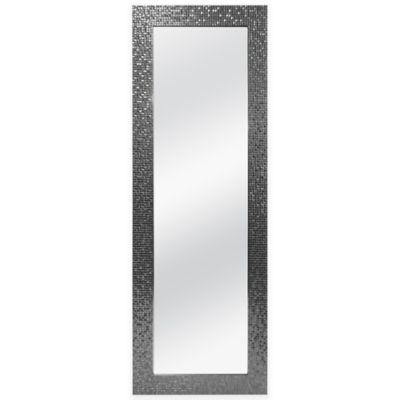 Over-the-Door 50-Inch x 14-Inch Rectangular Mosaic Tile Mirror in Silver