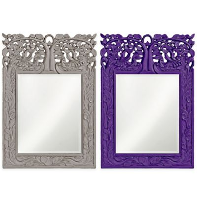 Howard Elliott 25-Inch x 17-Inch Rectangular Oakvale Mirror in Nickel