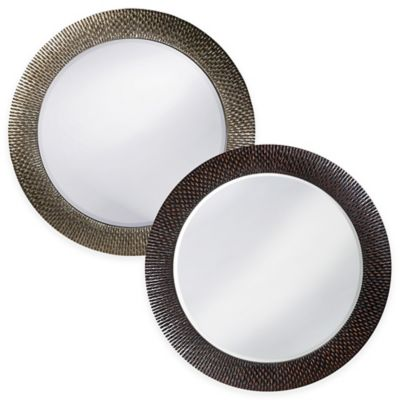 Howard Elliott 32-Inch Round Bergman Mirror in Black/Copper