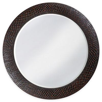 Howard Elliott 32-Inch Round Bergman Mirror in Black/Copper