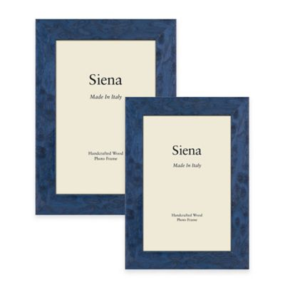 Siena Italian 4-Inch x 6-Inch Polished Wood Picture Frame in Blue