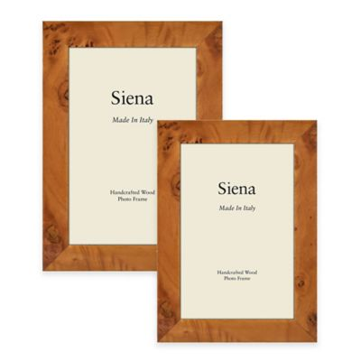 Siena Italian 4-Inch x 6-Inch Polished Wood Picture Frame in Honey