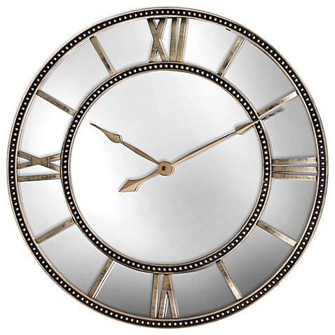 Mirrored clocks wall