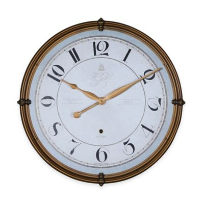 Uttermost Torianna Wall Clock in Antique Gold