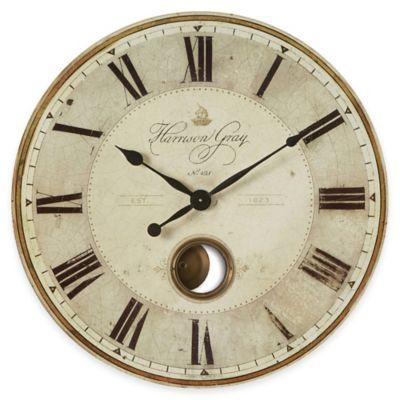 Gray Clock Wall Clocks