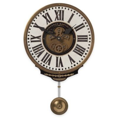 Uttermost Vincenzo Bartolini Wall Clock in Brass