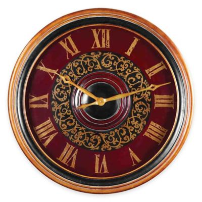 Uttermost Natara Wall Clock in Black
